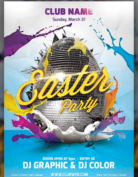 easter poster templates easter flayer template web3mantra