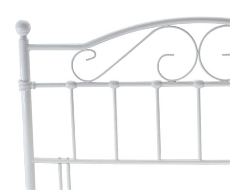 white metal king size headboard exmoor white metal headboard just headboards
