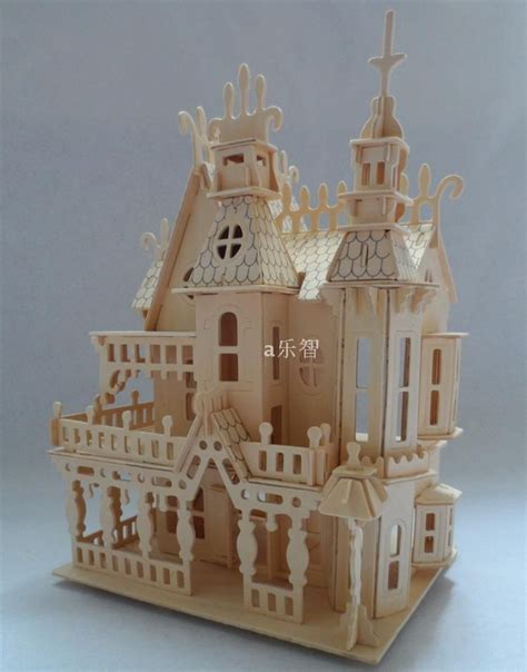 3d home kit by design works 3d wooden puzzle castle wooden house model 4 rooms kit