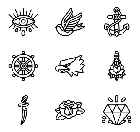 tattoo icons school icons 275 free vector icons