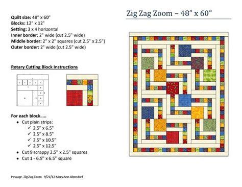 zig zag quilt block pattern zig zag zoom quilt pattern by mary ann altendorf