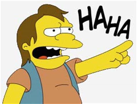 Haha Simpsons Meme - nelson haha meme memes