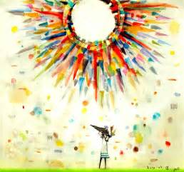 colorful sun sun watercolor painting colorful king sol