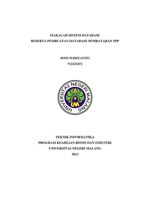 contoh cover makalah yang benar untuk mahasiswa lengkap