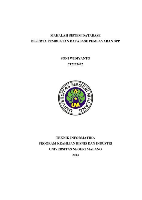 contoh format cover makalah yang benar kumpulan skripsi dan makalah bahasa indonesia lengkap