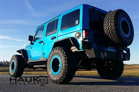 jeep hellcat offroad meet the 707 hp hauk hellcat jeep wrangler