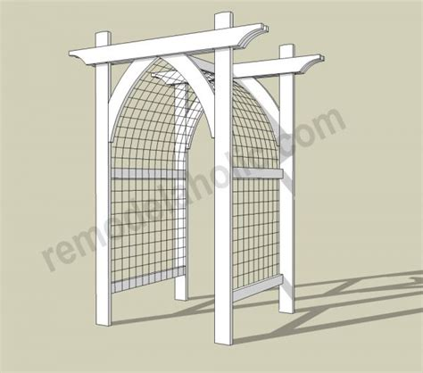 Wedding Arch Building Plans by White Garden Arbor Featuring Remodelaholic Diy