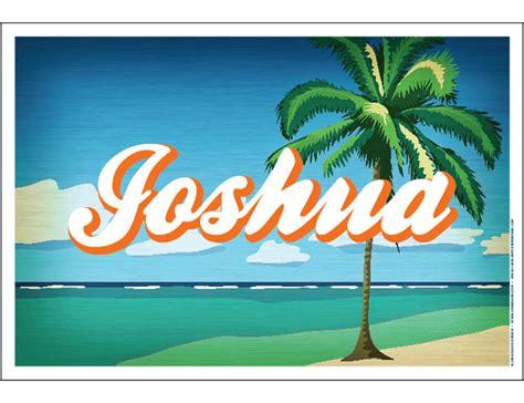 poster design name custom name poster palm tree vintage poster design by