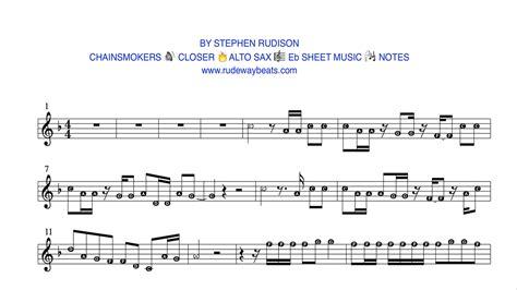 apologise testo chainsmokers closer eb alto sax notes