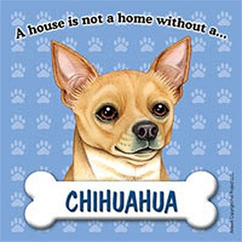 chihuahua dog house chihuahua dog magnet sign house is not a home tan