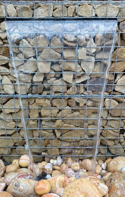 close   gabion water feature gabion wall backyard
