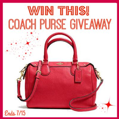 Purse Giveaway 2016 - win this gorgeous red coach purse us ends 7 15