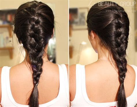 hair plaits hairstyle messy french plait braid on layered hair