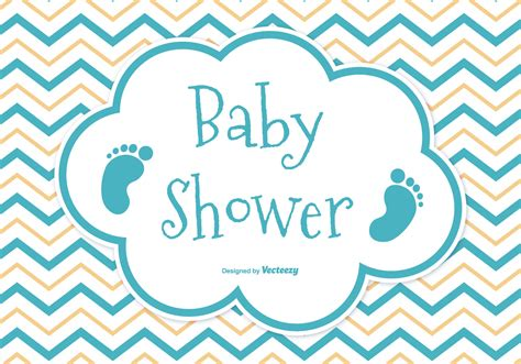Baby Shower For by Baby Shower Card Free Vector Stock