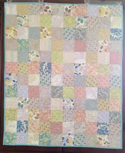 Baby quilt squares and triangles