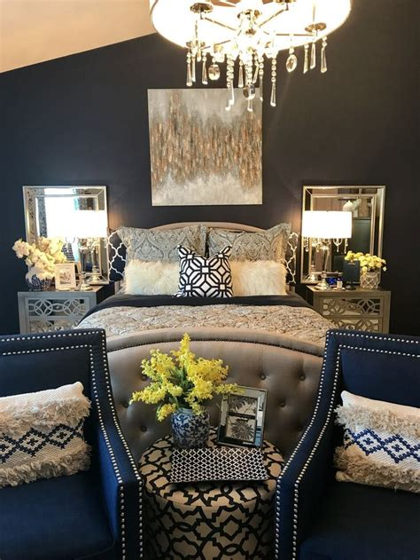 Navy Blue Bedroom Decorating Ideas by Navy Blue Interior Doors 27 Inspirational Photos