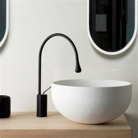 Black And White Tiled Bathroom Ideas goccia basin mixer by gessi just bathroomware