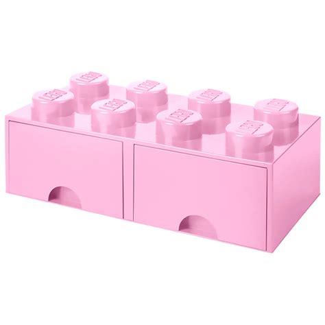 Lego Storage Drawers Uk by Lego Storage 8 Knob Brick 2 Drawers Light Pink At Lego