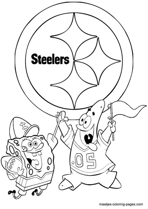 spongebob nfl coloring pages pinterest discover and save creative ideas