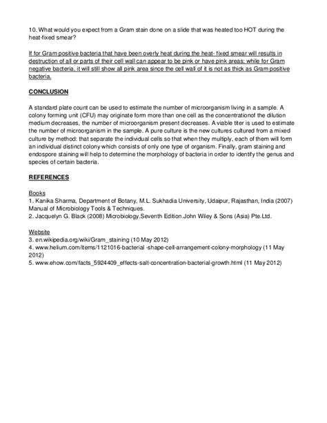 microbiology lab report template sle unknown lab report microbiology laboratory reports