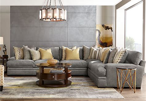 Cindy Crawford Sofa by Cindy Crawford Home Palm Springs Gray 4 Pc Sectional