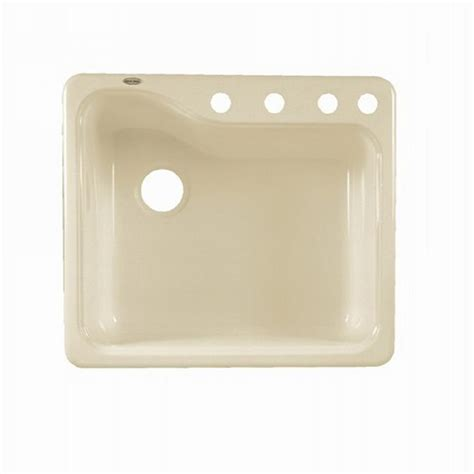 Shop American Standard Silhouette Single Basin Drop In Or Kitchen Sinks Porcelain