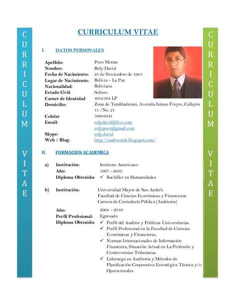 Modelo De Curriculum Vitae En Chile 2013 Curriculum Vitae 2013 Personal
