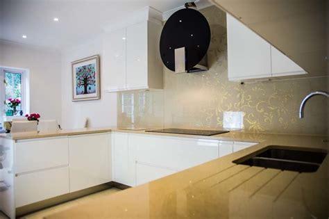 Designer Kitchen Splashbacks by Quot Designer Glitter Quot Patterned Kitchen Glass Splashback