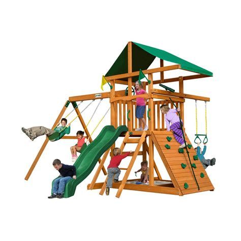small metal swing sets gorilla playsets outing iii cedar playset 01 0001 the