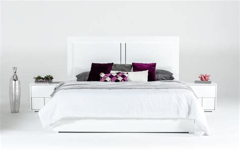 modern white bedroom sets modrest nicla italian modern white bedroom set