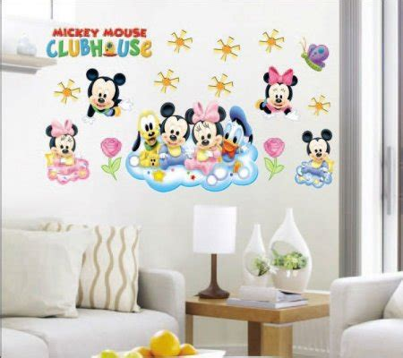 Sticker Wallpaper Dinding Minnie Mickey Hitam wall sticker 60 x 90 cm princess mickey mouse transparant