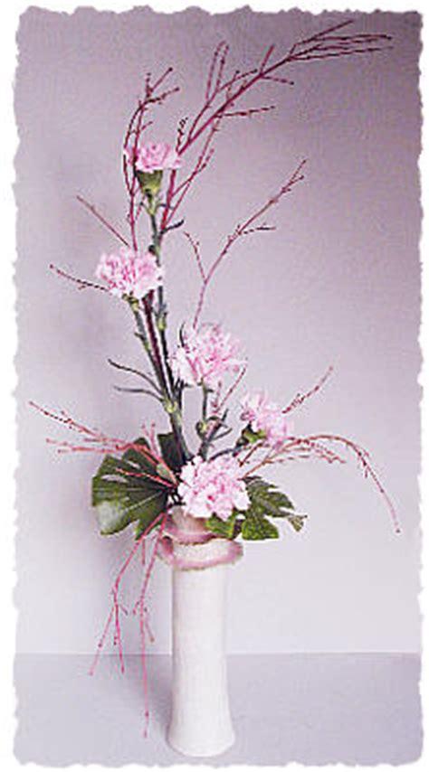 Flower Wall Stickers pale pink ikebana style flower arrangement dot com women