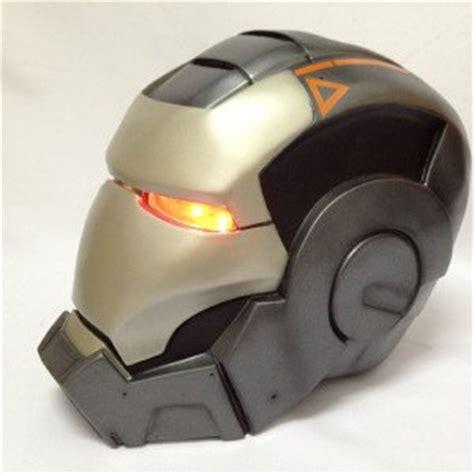 amazoncom iron man war machine helmet display led side