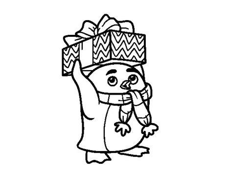 dibujos de navidad para colorear dibujosnet dibujo de ping 252 ino con regalo de navidad para colorear