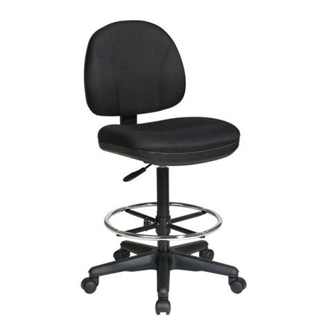 Black Stool Chair Drafting Chair With Stool Kit In Black Dc630 231