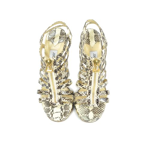 Jimmy Choo Glenys Python Is One Hottah Hottah Pair Of Heels by Second Jimmy Choo Glenys Snakeskin Sandals The