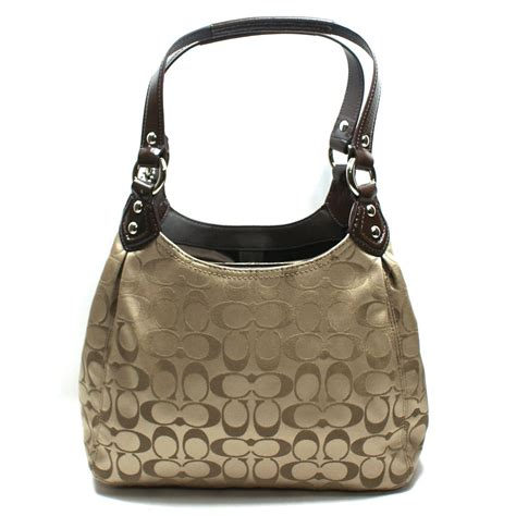 Khaki Handbag coach signature hobo bag khaki 21881 coach 21881