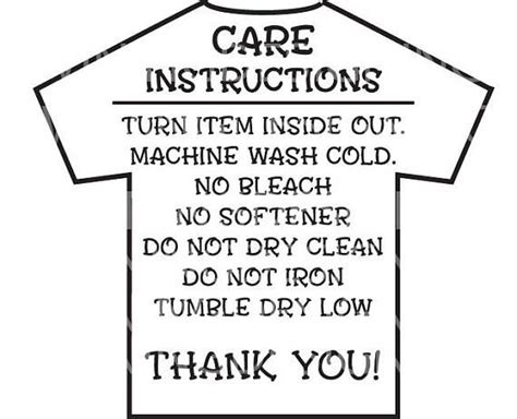 care instructions digital file  shirt care instructions