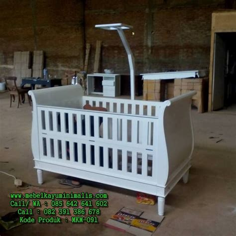 Tempat Tidur Bayi Kayu tempat tidur bayi minimalis putih mebel kayu minimalis