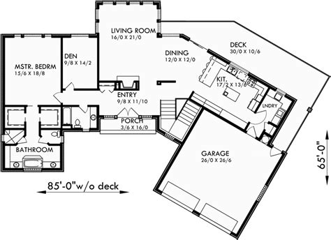 Daylight Basement Plans by Ranch House Plans Daylight Basement House Plans Sloping Lot