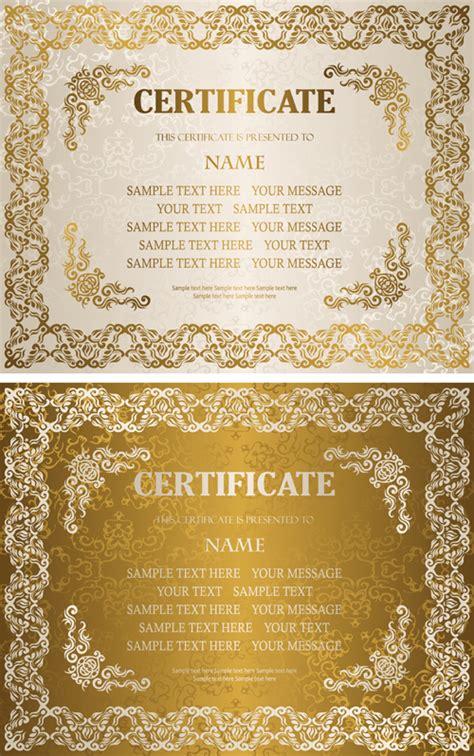 Certificate Design Golden | golden template certificate design vector 02 free free