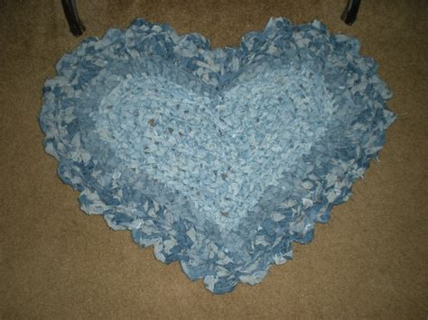 crochet denim rug denim rag rug crochet crafts