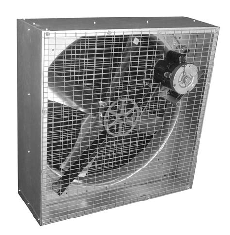 airflo agricultural box exhaust fan w shutters 36 inch