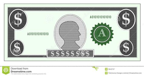 money template 14 blank dollar vector images dollar bill vector