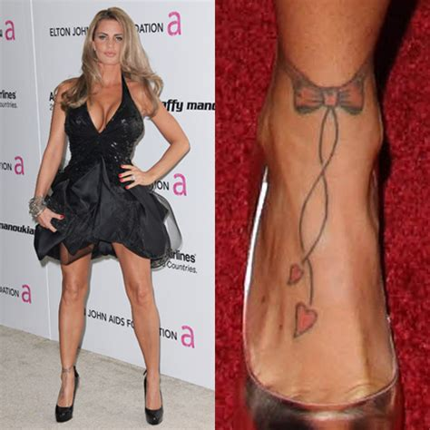 katie price wrist heart tattoo price bow ankle foot style