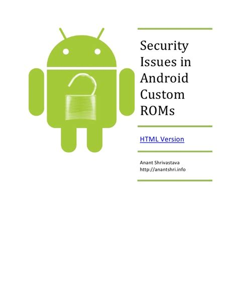 whitepaper security issues in android custom rom
