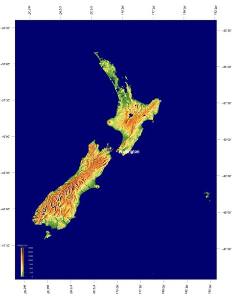 blogger nz geography blog new zealand physical map