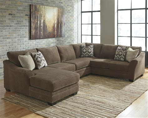 contemporary sectional with chaise contemporary 3 piece sectional with left chaise by