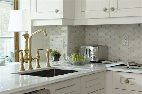 kitchen backsplash decorating ideas feature marble diamond marble octagon tile transitional kitchen sarah