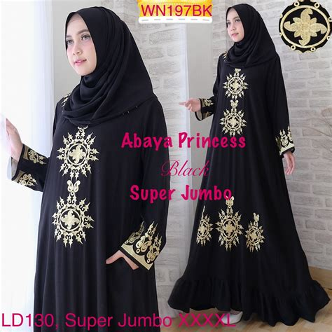 Gamis Fashion Wanita Jumbo gamis abaya princess jumbo baju muslim ukuran besar